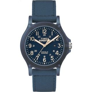Timex Unisex TW4B09600 Expedition Acadia Blue Nylon Mid-size Strap Watch (Option: Blue)