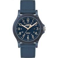 Timex Unisex TW4B09600 Expedition Acadia Blue Nylon Mid-size Strap Watch