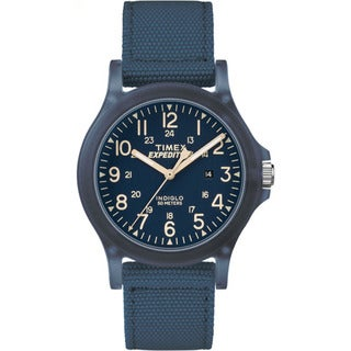 Timex Unisex TW4B09600 Expedition Acadia Blue Nylon Mid-size Strap Watch
