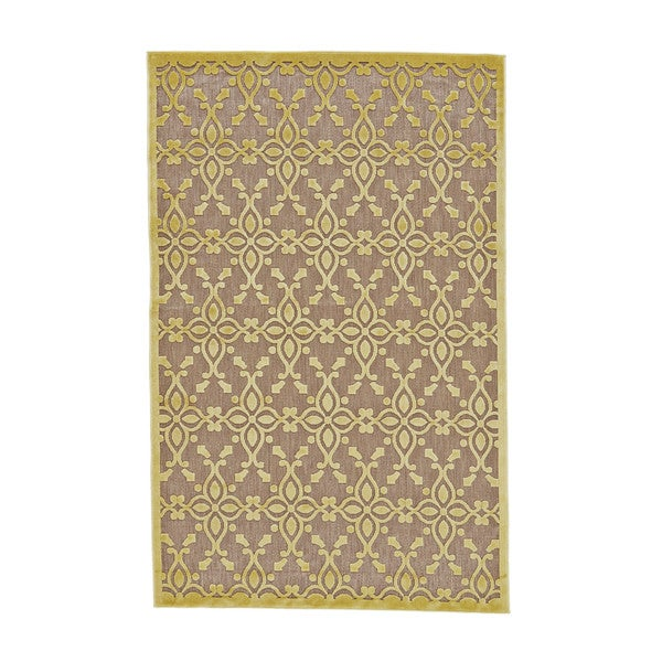 "Grand Bazaar Mollia Tan / Yellow Area Rug (2'1"" x 4') - 2' x 4'"