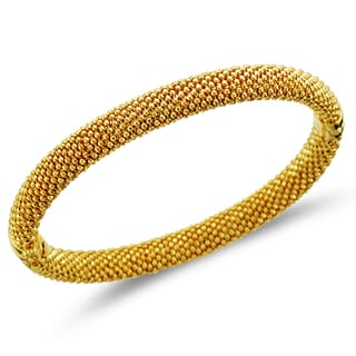 Unending Love Sterling Silver with Yellow Plated Mount Bangle