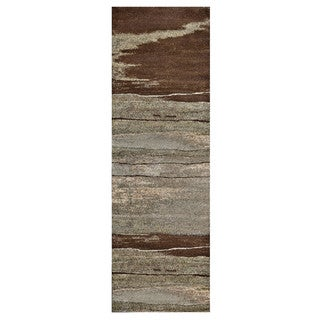 "Grand Bazaar Atwood 568R-3247 Chocolate Runner/ Tread (2'10"" x 7'10"") - 3' x 8'"