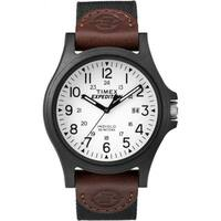 Timex Expedition Acadia Black/Brown/White Leather/Nylon Strap Watch