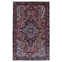 FineRugCollection semi-antique Handmade Kashan Red Wool Oriental Rug (6'1 x 9'8)