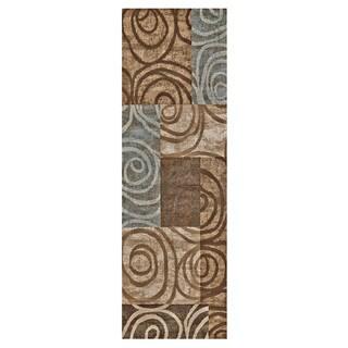 "Grand Bazaar Atwood 568R-3248 Chocolate Runner/ Tread (2'10"" x 7'10"") - 3' x 8'"