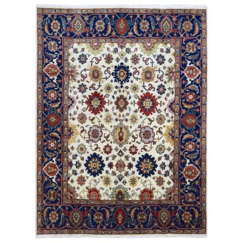 FineRugCollection Handmade Mahal Red Wool Oriental Rug