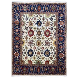 FineRugCollection Handmade Mahal Red Wool Oriental Rug (8' x 10'3)