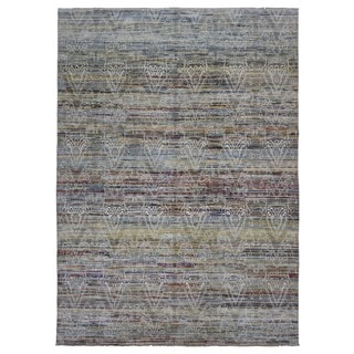 Fine Rug Collection Handmade Oushak Turkish Knot Multi-Colored Wool Oriental Rug (10' x 13'10)