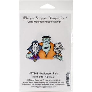Whipper Snapper Cling Stamp 4X6-Halloween Pals