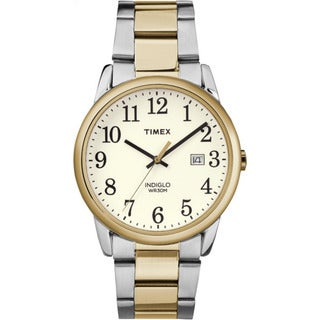 Timex Men's TW2R23500 Easy Reader Two-tone White Stainless-steel Bracelet Watch