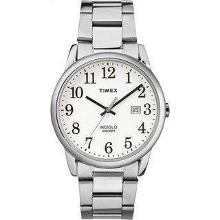 Timex Men's TW2R23300 Easy Reader Silvertone and White Stainless Steel Bracelet Watch|https://ak1.ostkcdn.com/images/products/14426360/P20993115.jpg?_ostk_perf_=percv&impolicy=medium