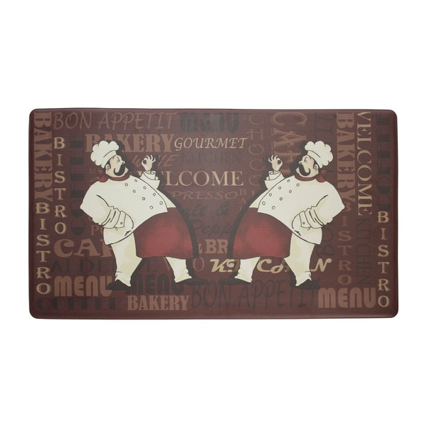 Chef Gear French Utensils Printed Anti-fatigue Kitchen Mat - (24 in. x 36 in.)