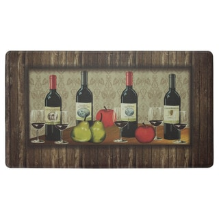 Chef Gear Sophisticated Wine with Border Anti-fatigue Gelness Kitchen Mat (20 in. x 32 in.)