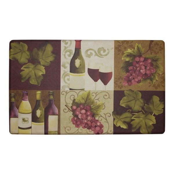 Chef Gear Wellness Wine Anti-fatigue Gelness Kitchen Mat (20 in. x 32 in.)