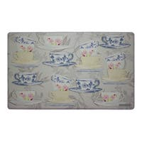 Laura Ashley Tea Party Anti-fatigue Gelness Kitchen Mat (20 in. x 32 in.)