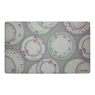 Laura Ashley Tea Plates Anti-fatigue Gelness Kitchen Mat (20 in. x 32 in.)