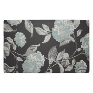 Laura Ashley Hydrangea Anti-Fatigue Gelness Kitchen Mat (20 x 32 in.)