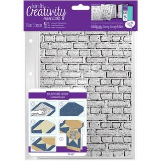 Creativity Essentials A5 Clear Stamps-Brickwork Background