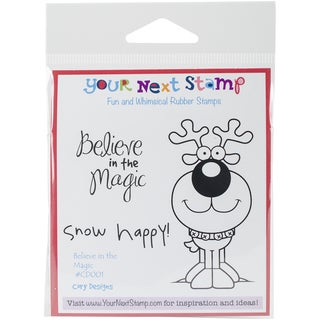 """Your Next Stamp Cling Stamps 3""""X4""""-Believe In Magic"""