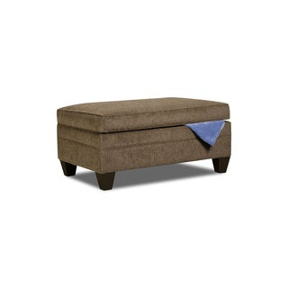 Simmons Upholstery Albany Truffle Storage Ottoman