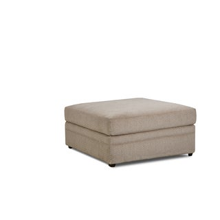 Simmons Upholstery Bellamy Putty Ottoman