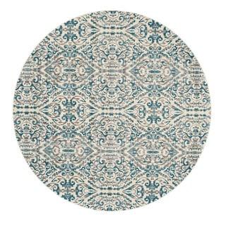 Grand Bazaar Turquoise Arsene Rug (8' 9 round)