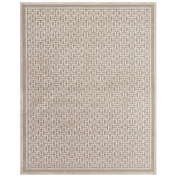 "Grand Bazaar Pellaro Pewter / Light Gray Area Rug (9'8"" x 12'7"") - 10' x 13'"