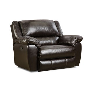 Simmons Upholstery Bingo Brown Cuddler Recliner