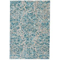 Grand Bazaar Arsene Aqua Area Rug - 10' x 14'