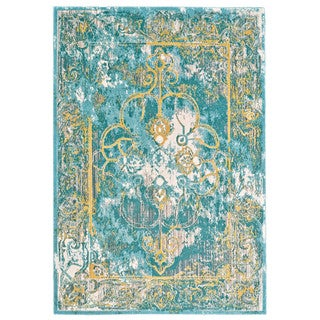 "Grand Bazaar Arsene Lagoon Area Rug (10'2"" x 13'9"") - 10' x 14'"