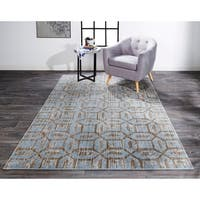 "Grand Bazaar Carini Ice Area Rug (10'2"" x 13'9"") - 10' x 14'"