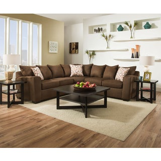 Simmons Upholstery Venture Chocolate Sectional