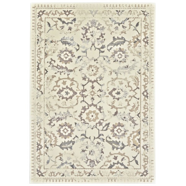 7 Top Tips For Throwing A Grand Party In A Small Home: Shop Grand Bazaar Nahele 603R-3861 Cream/ Gray Area Rug