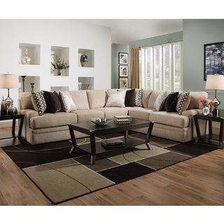 Simmons Upholstery Bellamy Putty Sectional