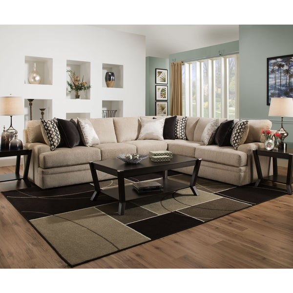 Simmons Upholstery Bellamy Putty Sectional  sc 1 st  Overstock.com : simmons sectional - Sectionals, Sofas & Couches