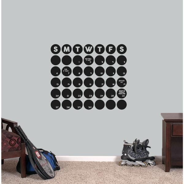 Chalkboard Circle Calendar 24 x 20.5 Wall Decal