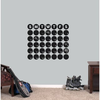 Chalkboard Circle Calendar 24 x 20.5 Wall Decal