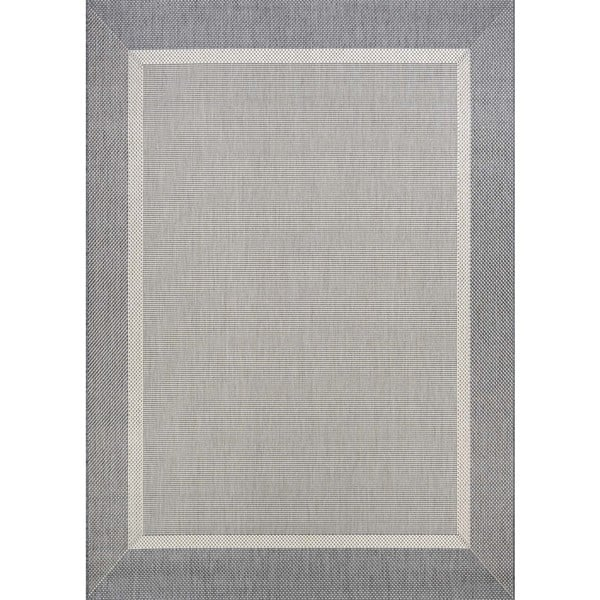 Couristan Recife Stria Texture Champagne-Grey Indoor/Outdoor Rug - 8'6 x 13'