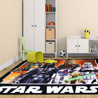 Lucas Star Wars Multicolor Polyester Kids Rug by Gertmenian (4'6 x 6'6)