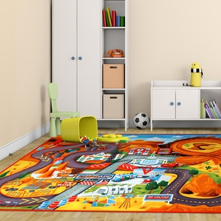 Disney Cars Multicolor Polyester Kids Rug by Gertmenian (4'6 x 6'6)