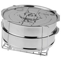 Deni Cooks Essentials Stainless Steel Round Pressure Cooker Dessert Pans