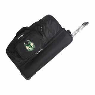 Denco Milwaukee Bucks 27-inch Rolling Drop Bottom Duffel Bag