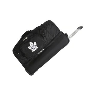 Denco Toronto Maple Leafs 27-inch Rolling Drop Bottom Duffel Bag