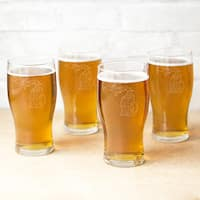 My State 19-ounce Beer Pilsner Glasses (Set of 4)