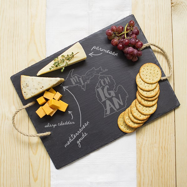 My State Black Slate Serving Tray