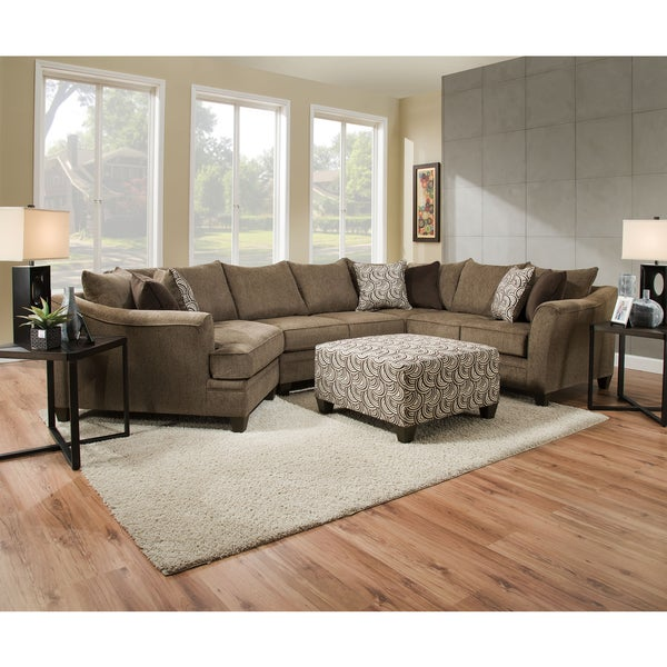 Simmons Upholstery Albany Truffle Sectional - Simmons Upholstery Albany Truffle Sectional - Free Shipping Today