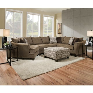 Simmons Upholstery Albany Truffle Sectional with Ottoman