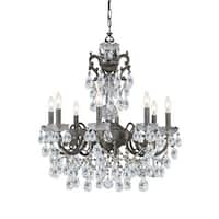 Crystorama Legacy Collection 8-light English Bronze/Swarovski Elements Strass Crystal Chandelier