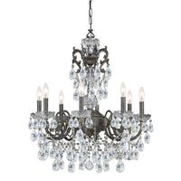 Crystorama Legacy Collection 8-light English Bronze/Crystal Chandelier