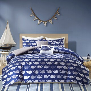 Urban Habitat Kids Nolan Navy Cotton Printed 5-piece Comforter Set